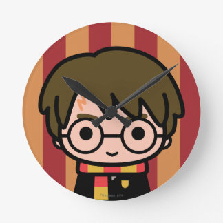 Harry Potter Cartoon Character Art Round Clock