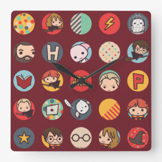 Harry Potter Cartoon Icons Pattern Clocks