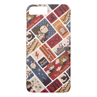 Harry Potter Cartoon Scenes Pattern iPhone 7 Plus Case