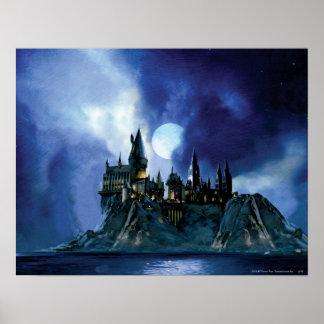 Harry Potter Castle | Hogwarts at Night Poster