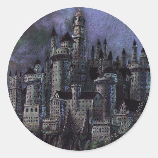 Harry Potter Castle | Magnificent Hogwarts Round Sticker