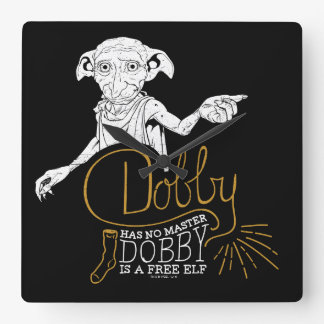 Harry Potter | Dobby Has No Master Square Wall Clock