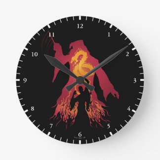 Harry Potter | Dumbledore Silhouette Round Clock