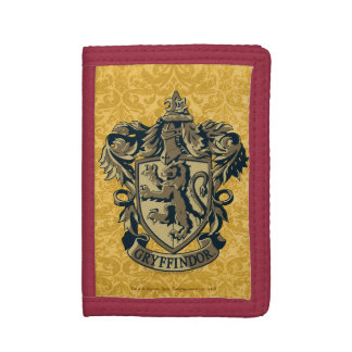 Harry Potter | Gryffindor Crest Gold and Red Trifold Wallets