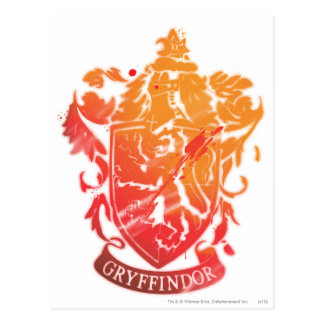 Harry Potter | Gryffindor Crest - Splattered Postcard