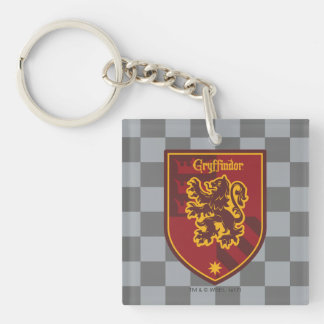 Harry Potter | Gryffindor House Pride Crest Double-Sided Square Acrylic Key Ring