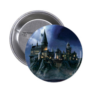 Harry Potter   Hogwarts Castle at Night 6 Cm Round Badge