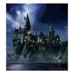 Harry Potter | Hogwarts Castle at Night Poster