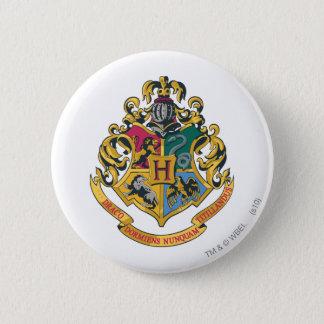 Harry Potter   Hogwarts Crest - Full Color 6 Cm Round Badge