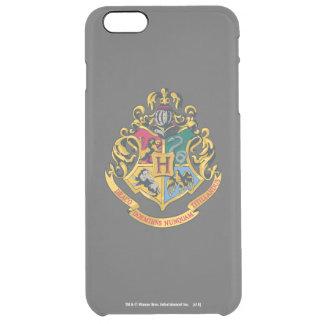 Harry Potter   Hogwarts Crest Full Color Clear iPhone 6 Plus Case
