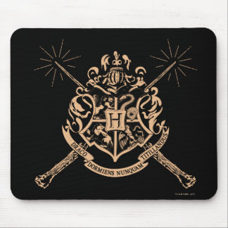 Harry Potter | Hogwarts Crossed Wands Crest Mouse Pad