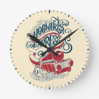 Harry Potter | Hogwarts Express Typography Round Clock