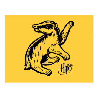Harry Potter | Hufflepuff Badger Icon Postcard