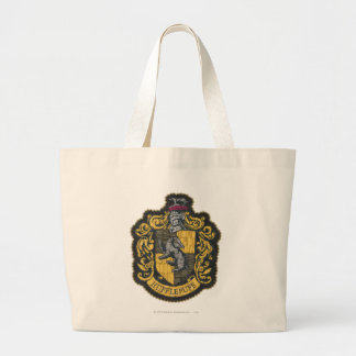 Harry Potter | Hufflepuff Crest Patch Large Tote Bag