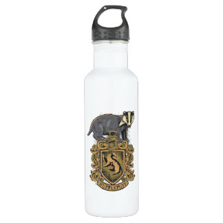Harry Potter   Hufflepuff Crest with Badger 710 Ml Water Bottle