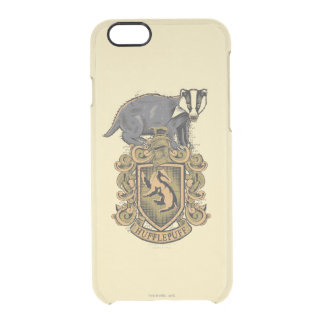 Harry Potter | Hufflepuff Crest with Badger Clear iPhone 6/6S Case