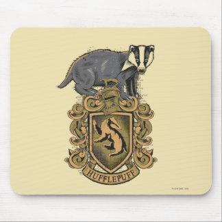 Harry Potter | Hufflepuff Crest with Badger Mouse Pad