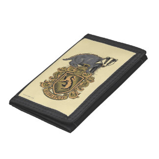 Harry Potter | Hufflepuff Crest with Badger Trifold Wallets