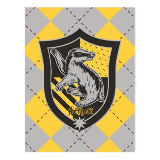 Harry Potter   Hufflepuff House Pride Crest Postcard