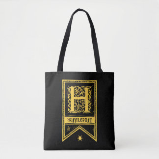 Harry Potter | Hufflepuff Monogram Banner Tote Bag