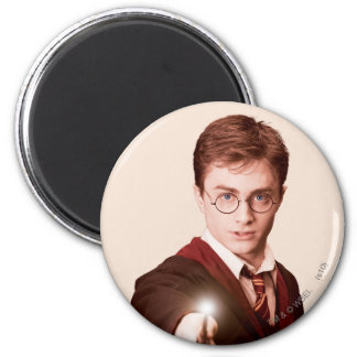 Harry Potter Points Wand 6 Cm Round Magnet