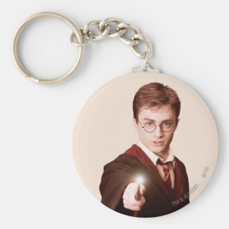 Harry Potter Points Wand Basic Round Button Key Ring