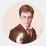 Harry Potter Points Wand Round Sticker