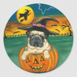Harry Potter Pug Halloween Stickers