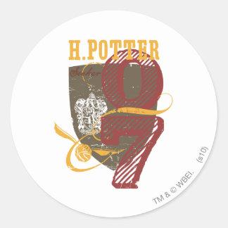 Harry Potter Quidditch Classic Round Sticker