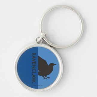 Harry Potter   Ravenclaw House Pride Graphic Silver-Colored Round Key Ring