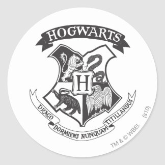 Harry Potter | Retro Hogwarts Crest Classic Round Sticker