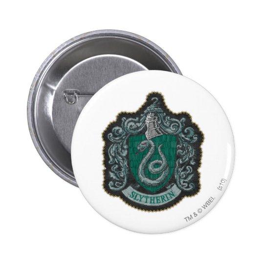Harry Potter   Retro Mighty Slytherin Crest 6 Cm Round Badge