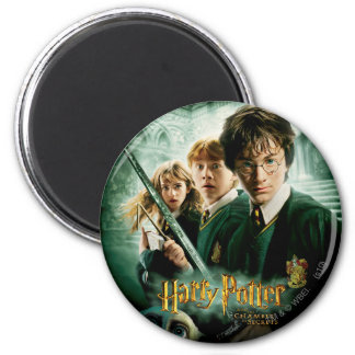Harry Potter Ron Hermione Dobby Group Shot 6 Cm Round Magnet