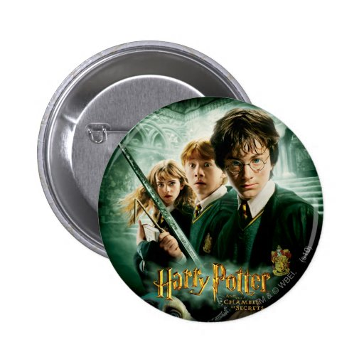 Harry Potter Ron Hermione Dobby Group Shot Button