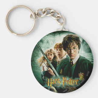 Harry Potter Ron Hermione Dobby Group Shot Basic Round Button Key Ring