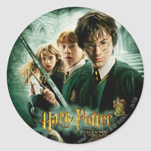 Harry Potter Ron Hermione Dobby Group Shot Round Stickers