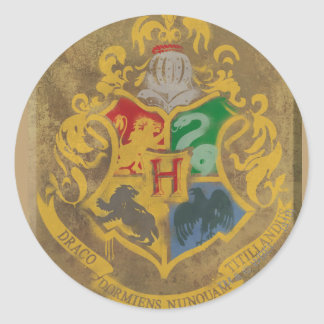 Harry Potter | Rustic Hogwarts Crest Classic Round Sticker