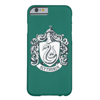 Harry Potter | Slytherin Crest - Black and White Barely There iPhone 6 Case