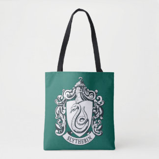 Harry Potter | Slytherin Crest - Black and White Tote Bag