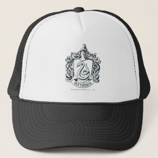 Harry Potter | Slytherin Crest - Black and White Trucker Hat