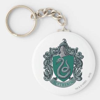 Harry Potter | Slytherin Crest Green Basic Round Button Key Ring
