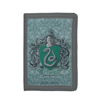 Harry Potter   Slytherin Crest Green Trifold Wallets