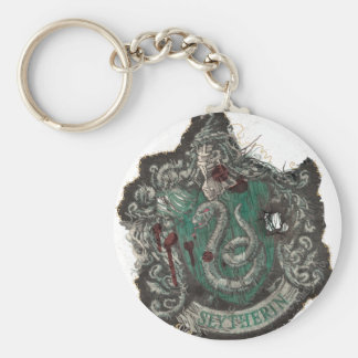 Harry Potter | Slytherin Crest - Vintage Basic Round Button Key Ring
