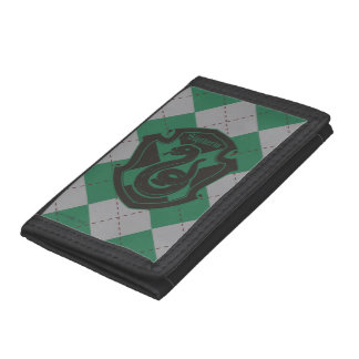 Harry Potter | Slytherin House Pride Crest Tri-fold Wallet