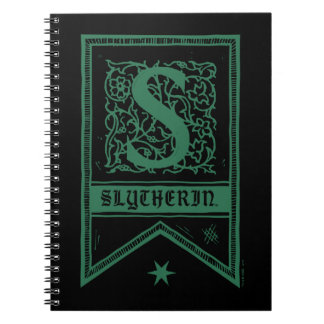 Harry Potter | Slytherin Monogram Banner Notebooks
