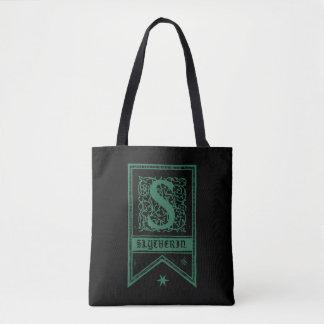 Harry Potter   Slytherin Monogram Banner Tote Bag