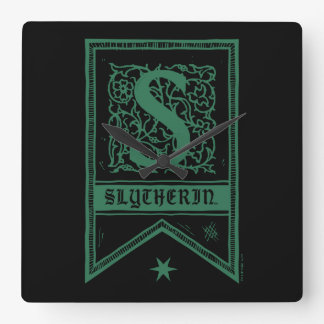 Harry Potter | Slytherin Monogram Banner Wall Clocks