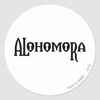 Harry Potter Spell | Alohomora Classic Round Sticker