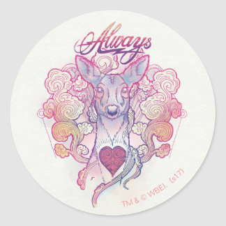 "Harry Potter Spell | ""Always"" Doe Patronus Classic Round Sticker"