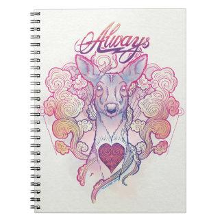 "Harry Potter Spell | ""Always"" Doe Patronus Spiral Notebook"